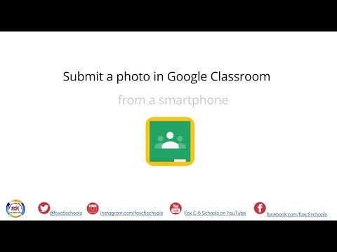 Submit a Photo to Google Classroom from a Smartphone