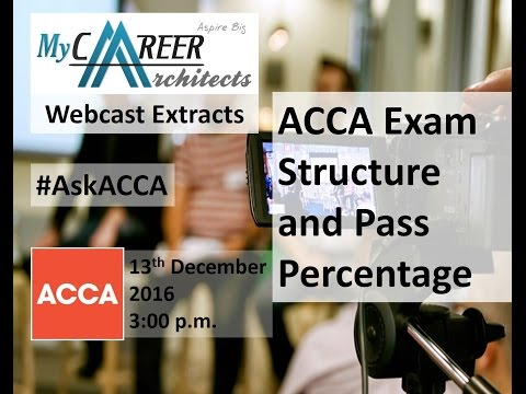 ACCA Exam Structure and Pass Percentage   ACCA Webcast Extract   My Career Architects