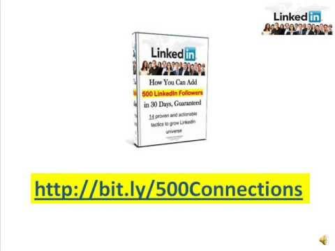 Get 500 LinkedIn Connections in 30 Days - Step 1