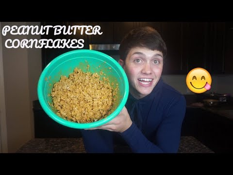 HOW TO MAKE PEANUT BUTTER CORNFLAKES!! (SECRET RECIPE)
