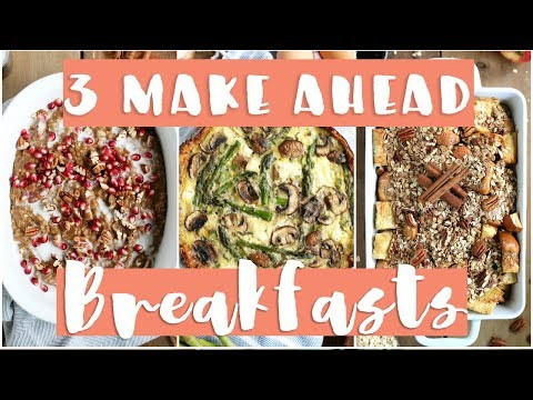 3 Make-Ahead Holiday Breakfast Recipes