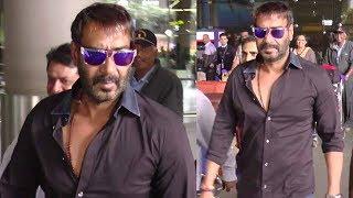 Ajay Devgn Spotted At Mumbai Airport