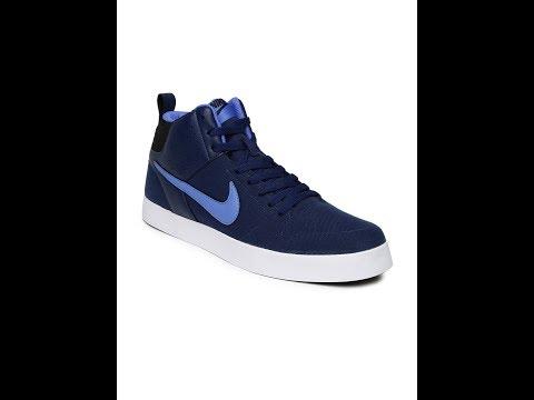 Nike Men Navy Liteforce III Mid-Top Sneakers order in myntra