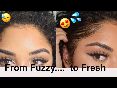 From Fuzzy to Fresh... Slay your hair line! Smooth those baby hairs | Lolo Saunders
