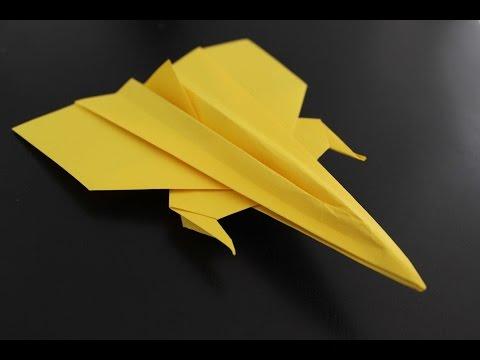 How to Make a Origami Paper Plane: instruction | GAGA