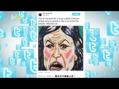 Did Jim Carrey Paint a 'Monstrous' Sarah Huckabee Sanders?