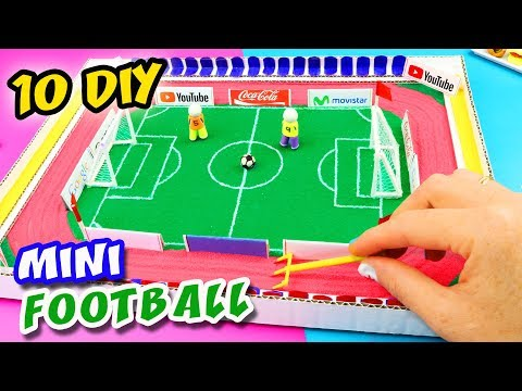 10 DIY MINIATURE FOOTBALL ZEN GARDEN - HOW TO MAKE A MINI SOCCER FIELD | aPasos Crafts DIY