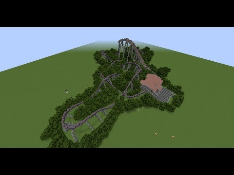 Minecraft Roller Coaster Timelapse