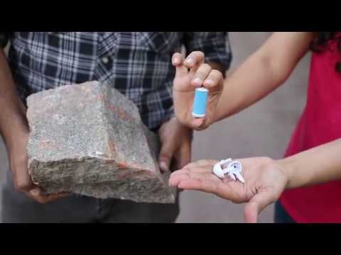 PediKlear Foot Callus Remover ||  Rock Challenge  || Will It Break?