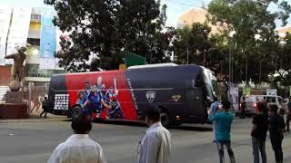 Rangpur Riders team leaves Mirpur Stadium