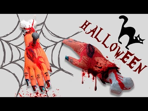Severed Hands ( DIY Halloween Decorations  )