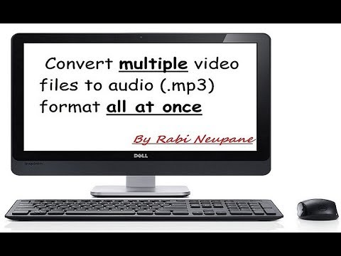 ★How to convert multiple video files to audio (.mp3) format all at once★