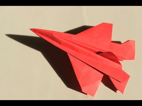 How to make a cool paper plane origami: instruction| Falcon 7X