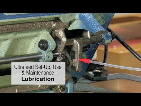 Maintenance & Lubrication for an Ultrafeed Sewing Machine