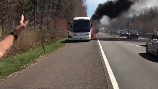 Dr. Oz Becomes Reporter as He Records School Bus Fire