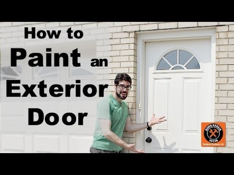 How to Paint an Exterior Door -- by Home Repair Tutor