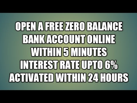 How to open a lifetime free Zero balance bank account online by mobile [ Hindi 2017 2018 ]