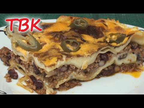 Chili Lasagne / Lasagna Recipe (A Mexitalian Mash-up) - Titli's Busy Kitchen