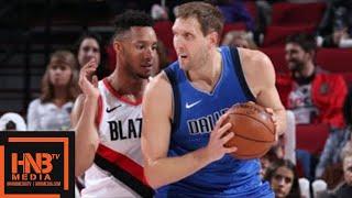 Dallas Mavericks vs Portland Trail Blazers Full Game Highlights / Jan 20 / 2017-18 NBA Season