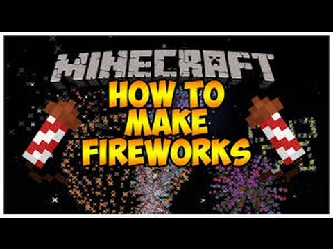 Minecraft How to make Fireworks(Ps3,Ps4,Xbox360,XboxOne) Classic Crafting
