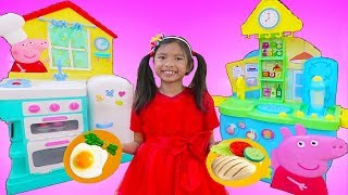 Download Wendy Pretend Play Cooking Food w/ Peppa Pig Restaurant Kitchen Oven & Refrigerator Toys Video