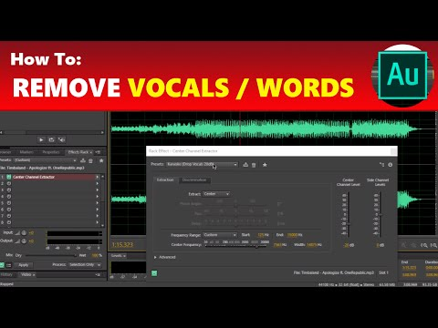 How To: Remove Vocals / Words From a Song in Adobe Audition | Using Adobe Audition Tutorial
