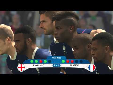 Pro Evolution Soccer 2016 Euro 2016 England VS France