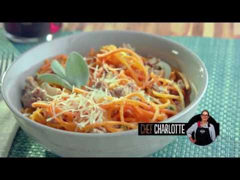 Garlicky Butternut Squash Noodles & Ground Turkey