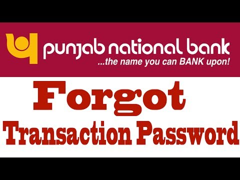 Reset Transaction Password Of PNB Internet Banking
