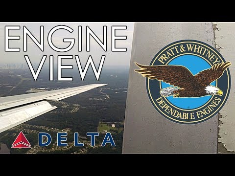 Delta Air Lines MD-80 / MD-88 LOUD Reverse Thrust on Landing at Atlanta ATL with Engine View
