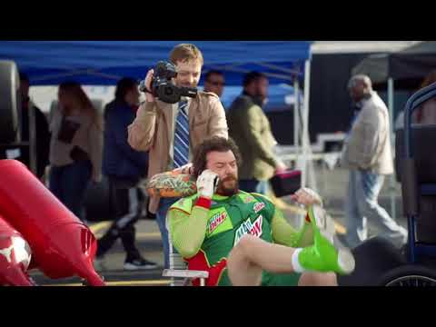 Mt Dew Commercial: Dewey's Race Day (Leon drives)