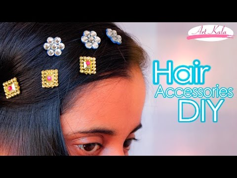 How to make bridal hair accessories | DIY hair clips | easy | Artkala 114