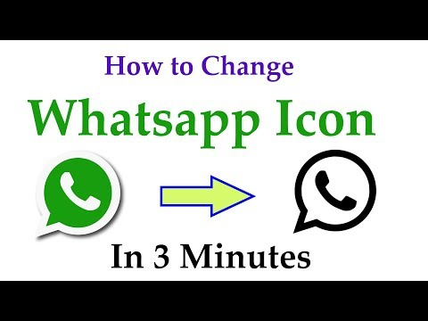 How to change your WhatsApp icon into Any icon 2017  - No Root  - Change Any icon in just 3 minutes