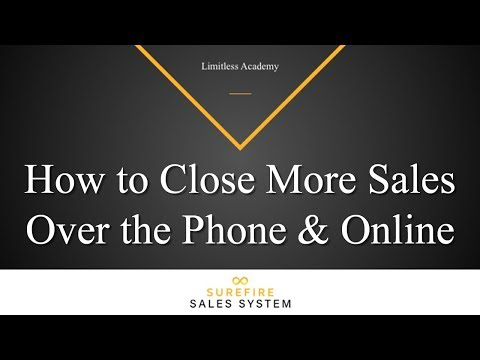 How to Close More Sales Over the Phone and Online (Outcome-Based Goals)