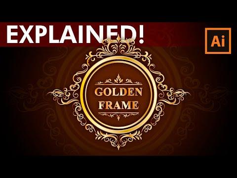 Adobe Illustrator Tutorial - How to design a Golden Frame