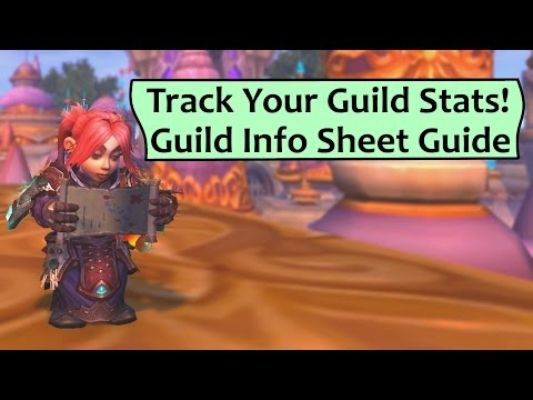 Track your Guild Stats! Set Up a Rankings and Info Sheet for your Guild