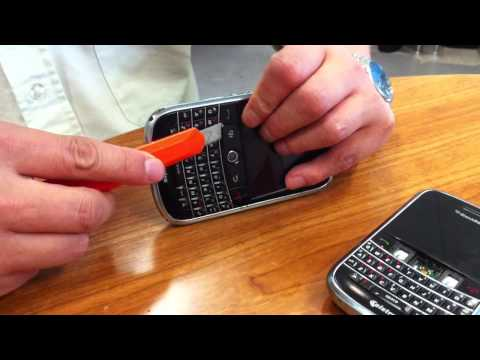 How To Change/Clean The Trackball On A Blackberry 9000