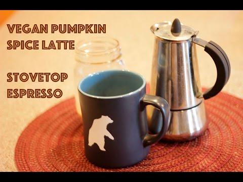 Vegan Pumpkin Spice Latte with Stovetop Espresso