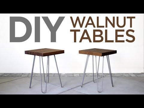 Walnut Butcher Block Tables | 19 | The Cutting Bored