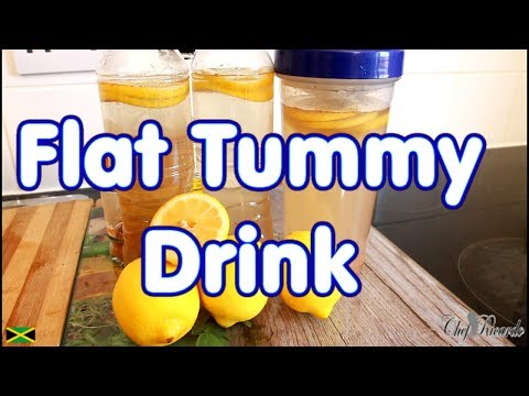 Best Flat Tummy Drink With Ginger Lemon And Bragg Apple Cider Vinegar | Recipes By Chef Ricardo