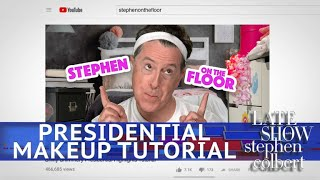 Stephen Gives A Presidential Makeup Tutorial