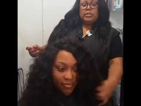 How to tame your frizzy curly Marsha Ambrosius hair weave with Aphogee Curlific