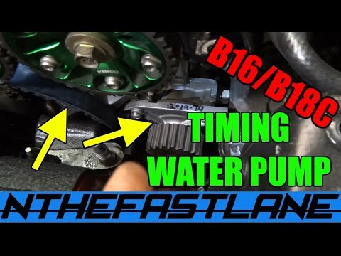 Timing Belt & Water Pump Replacement Honda B-series