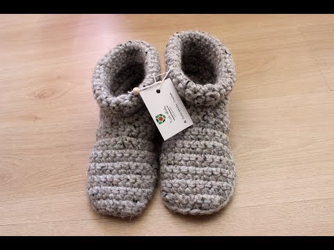 crochet slipper boots (with voice instructions)