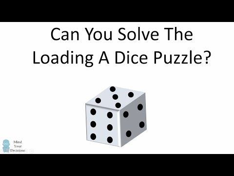 Counter-Intuitive Probability: Loading A Dice Puzzle