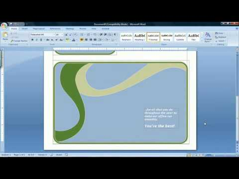 How to Make a Card Using Microsoft Word 2007