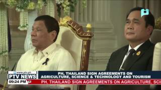 PH, Thailand sign agreements on agriculture, science & technology, and tourism