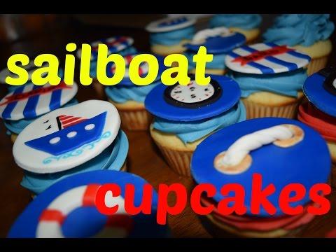 Sailboat cupcakes ⛵ de velero