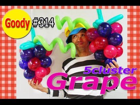 Grape balloon 🍇 ブドウ 🍇 葡萄を作ろう! 【かねさんのバルーンアート】