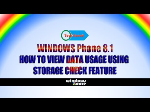 Windows Phone 8.1: How to View Data Usage Using 'Storage Check' Feature